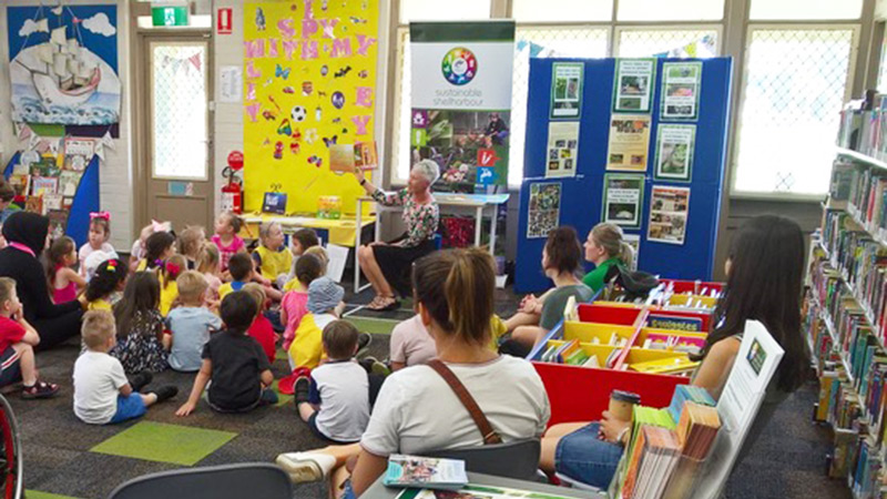Workshop at Shellharbour library for National Pollinator Week on Thursday 15th November, 2018 (picture taken from 2017 event)